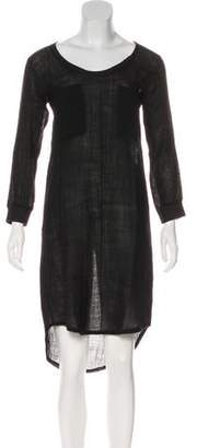 Raquel Allegra High-Low Long Sleeve Dress