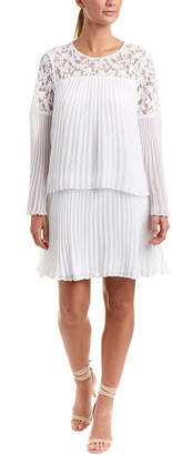 BCBGMAXAZRIA Pleated Shift Dress
