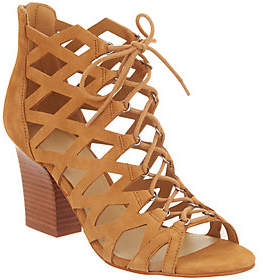 Marc Fisher Cut-out Suede Lace-up Sandals -Blair