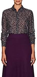 Altuzarra Women's Chika Floral Silk-Blend Blouse - Purple