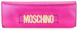 Moschino crystal embellished clutch bag