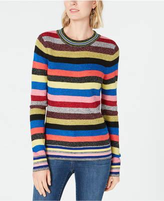 INC International Concepts I.n.c. Petite Rainbow Stripe Sweater, Created for Macy's