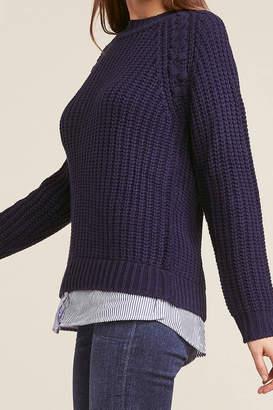 BB Dakota Blue Knit Sweater