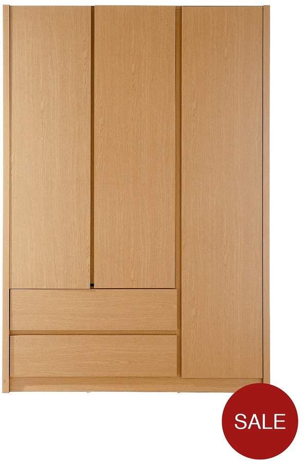 Alexander 3-Door, 2-Drawer Wardrobe