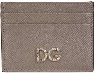 Dolce & Gabbana Crystal Logo Card Holder
