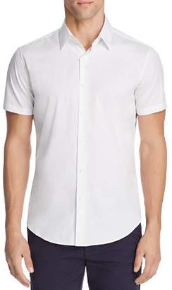 Theory Sylvain Wealth Short Sleeve Slim Fit Button-Down Shirt