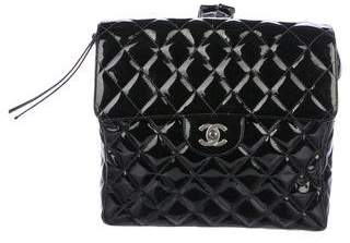 Chanel Patent Flap Backpack