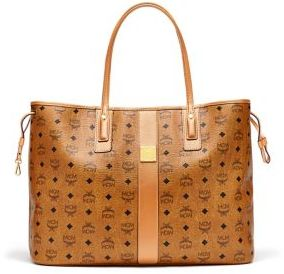 MCM Liz Large Reversible Visetos Shopper Tote $665 thestylecure.com