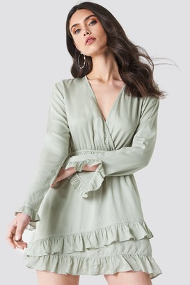 Linn Ahlborg X Na Kd Solid Wrap Dress