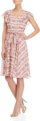 Nanette Lepore Nanette Floral Print Midi Dress