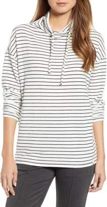 Lou & Grey Arni Stripe Drawstring Neck Top