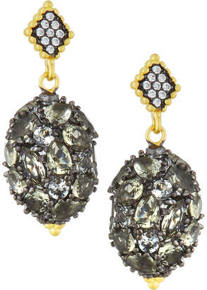 Freida Rothman Rose Dor Pebbled Drop Earrings