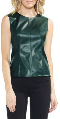 Vince Camuto Faux Leather Front Shell