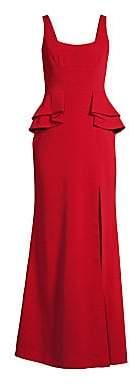 BCBGMAXAZRIA Women's Peplum Crepe Gown
