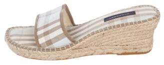 Burberry Nova Check Espadrille Slide Sandals