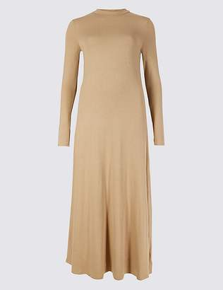 Marks and Spencer Jersey Turtle Neck Maxi Dress
