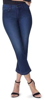 NYDJ Marilyn Release Hem Crop Straight Leg Jeans (Clean Bezel)