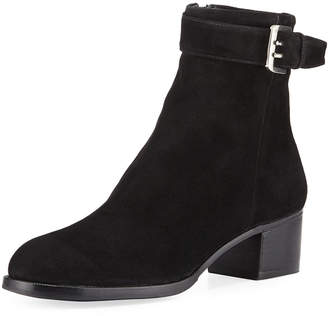 Gravati Suede Booties with Buckle