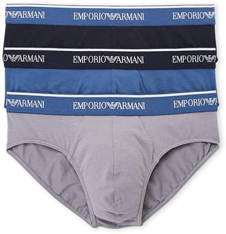 Emporio Armani 3-Pack Cotton Stretch Briefs