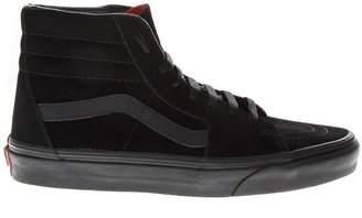 Vans Sneakers High Top Nera In Camoscio