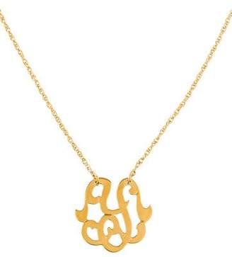 Jennifer Zeuner Jewelry Emily Small Swirly Initial Y Pendant Necklace