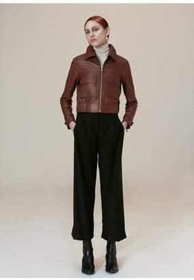 Veda Jack Leather Jacket Saddle