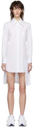 Comme des Garcons White Pleated Shirt Dress