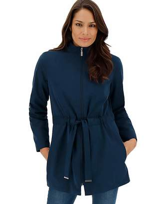 Fashion World Navy Soft Touch Microfibre Jacket