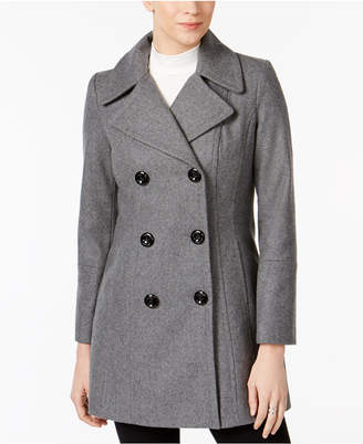 Anne Klein Double-Breasted Wool-Blend Peacoat
