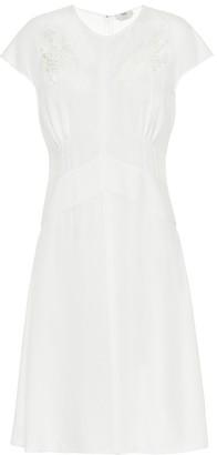 Fendi Lace-trimmed crepe dress