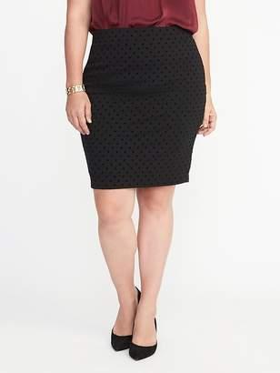 Old Navy Patterned Plus-Size Ponte-Knit Pencil Skirt