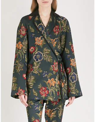 Rosetta Getty Floral jacquard jacket