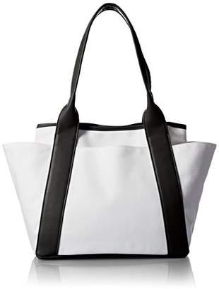 Lau [ラウ] Canvas Tote Bag マザーズバッグ、キャンバス、サブバッグ、ママバッグ 1171-11029 0900 Black
