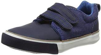 Pumpkin Patch Boys' Denim Panelled Low-Top Sneakers, (Copen Blue), (16.5 EU)