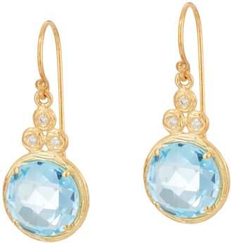 ADI Paz Round Gemstone & Diamond Earrings, 14K