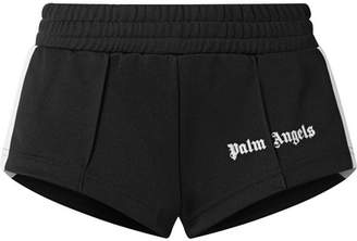 Palm Angels Striped Satin-jersey Shorts - Black