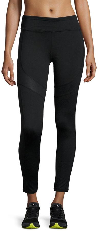 Marc NY Performance Shine-Accent Flat-Waist Leggings, Black