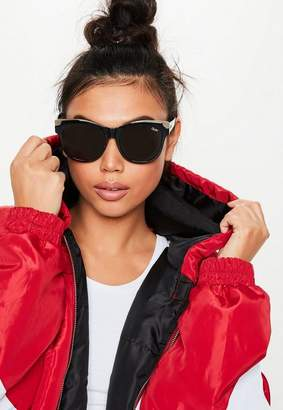 Missguided Quay Australia It's My Way Black Gold Sunglasses