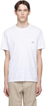 MAISON KITSUNÉ White Tricolor Fox Patch T-Shirt