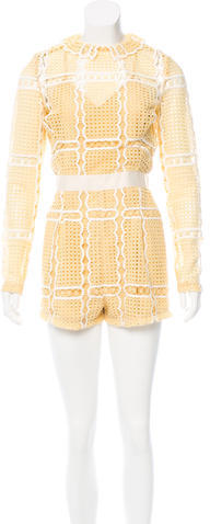 Alice McCallAlice McCall Long Sleeve Lace Romper
