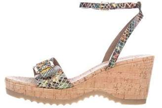 Stella McCartney Buckle-Accented Wedge Sandals