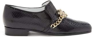 Koché Koche - Jewel And Crystal Embellished Leather Loafers - Womens - Black