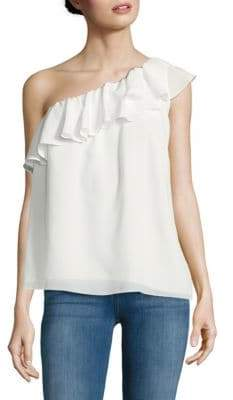 French Connection Crepe Light One-Shoulder Top