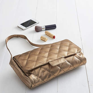 NV London Calcutta Quilted Leather Shoulder To Clutch Bag
