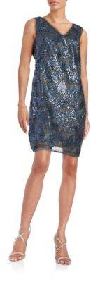 julia jordan Floral Overlay Sheath Dress $188 thestylecure.com