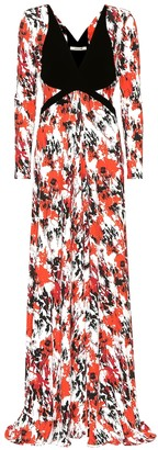 Roberto Cavalli Printed stretch jersey gown