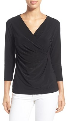 Women's Nic+Zoe Solid Faux Wrap Top $98 thestylecure.com