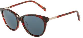 Balmain Round Acetate/Metal Sunglasses