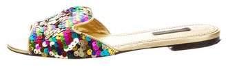 Dolce & Gabbana Sequin Slide Sandals