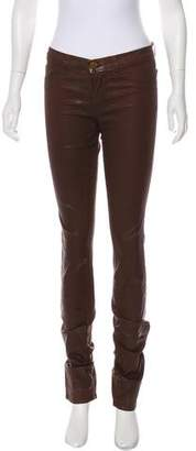 J Brand Mid-Rise Coated Jeans